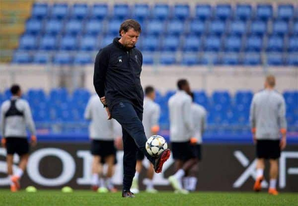 ROME, ITALY - Tuesday, May 1, 2018: Liverpool's first team coach Peter Krawietz during a training session at the Stadio Olimpico ahead of the UEFA Champions League Semi-Final 2nd Leg match between AS Roma and Liverpool FC. Liverpool lead 5-2 from the 1st Leg. (Pic by David Rawcliffe/Propaganda)