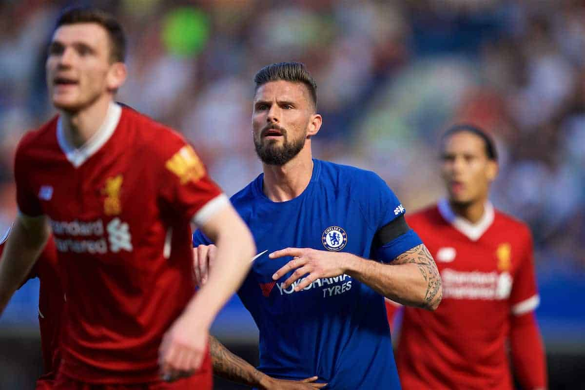 LONDON, ENGLAND - Sunday, May 6, 2018: Chelsea's Olivier Giroud during the FA Premier League match between Chelsea FC and Liverpool FC at Stamford Bridge. (Pic by David Rawcliffe/Propaganda)