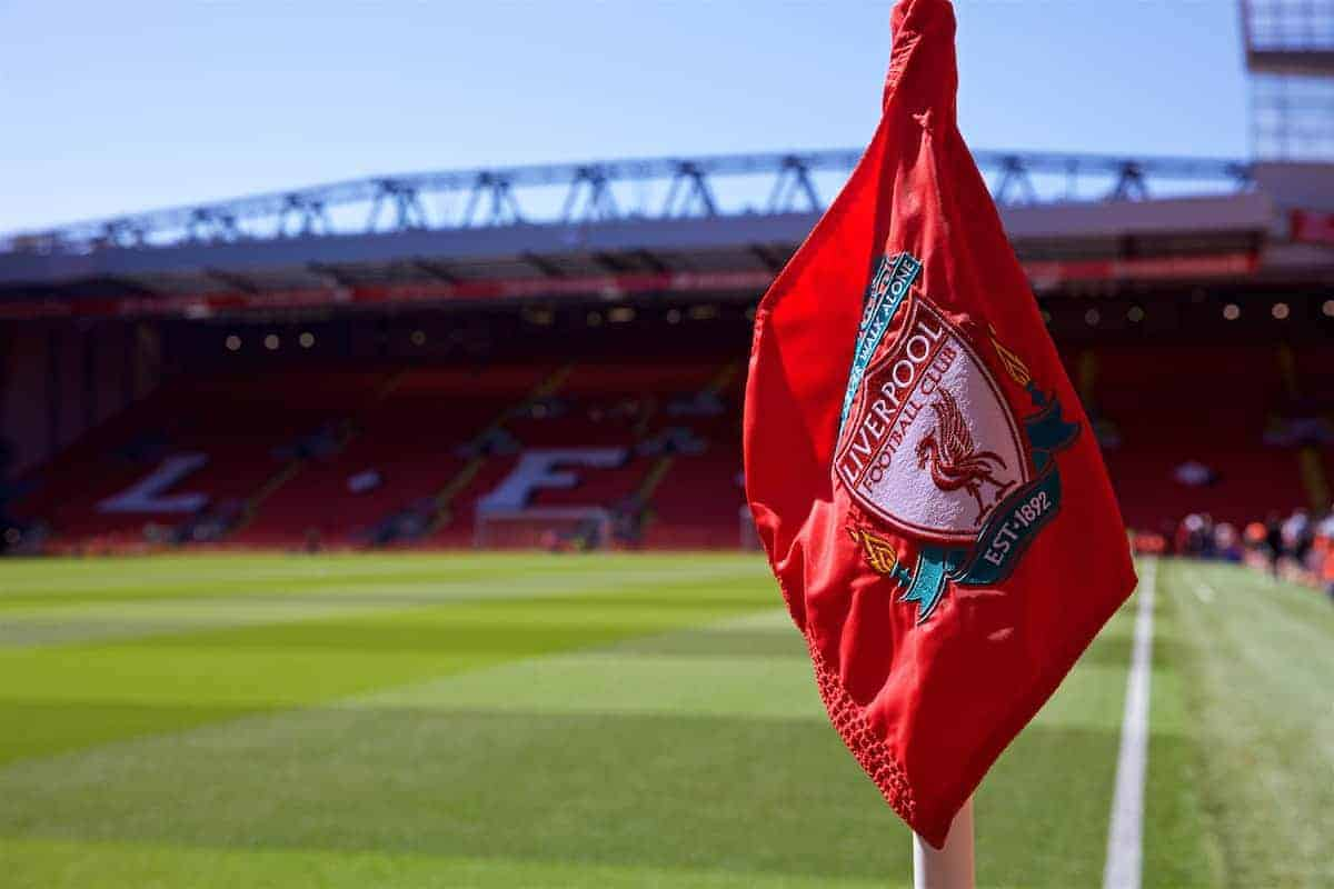 Corner flag, Anfield, general photo (Pic by David Rawcliffe/Propaganda)