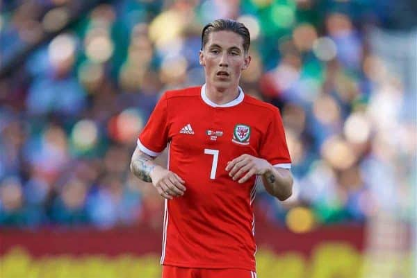 LOS ANGELES, USA - Monday, May 28, 2018: Wales' Harry Wilson during an international friendly between Mexico and Wales at the Rose Bowl. (Pic by David Rawcliffe/Propaganda)