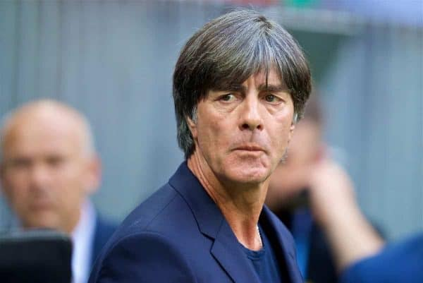 MOSCOW, RUSSIA - Sunday, June 17, 2018: Germany's head coach Joachim Low before the FIFA World Cup Russia 2018 Group F match between Germany and Mexico at the Luzhniki Stadium. (Pic by David Rawcliffe/Propaganda)