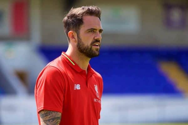 CHESTER, ENGLAND - Saturday, July 7, 2018: Liverpool's Danny Ings inspects the pitch before a preseason friendly match between Chester FC and Liverpool FC at the Deva Stadium. (Pic by Paul Greenwood/Propaganda)