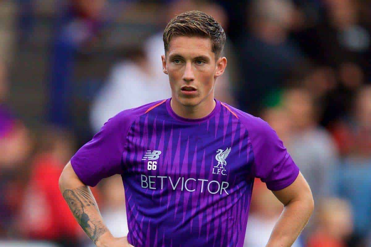 BIRKENHEAD, ENGLAND - Tuesday, July 10, 2018: Liverpool's substitute Harry Wilson warms-up at half-time during a preseason friendly match between Tranmere Rovers FC and Liverpool FC at Prenton Park. (Pic by Paul Greenwood/Propaganda)