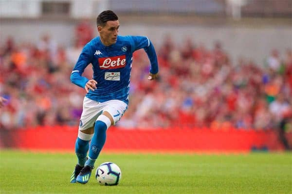 DUBLIN, REPUBLIC OF IRELAND - Saturday, August 4, 2018: Napoli's José Callejón during the preseason friendly match between SSC Napoli and Liverpool FC at Landsdowne Road. (Pic by David Rawcliffe/Propaganda)