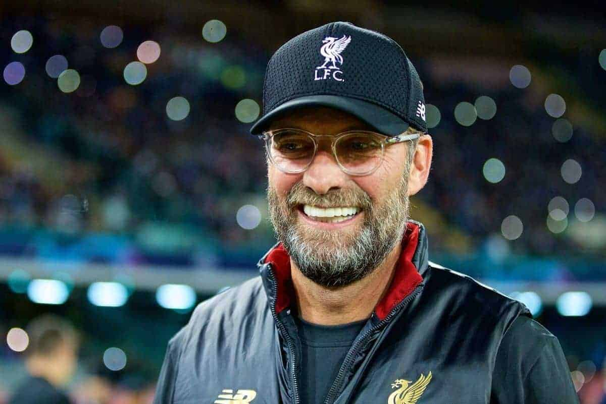 NAPLES, ITALY - Wednesday, October 3, 2018: Liverpool's manager J¸rgen Klopp before the UEFA Champions League Group C match between S.S.C. Napoli and Liverpool FC at Stadio San Paolo. (Pic by David Rawcliffe/Propaganda)