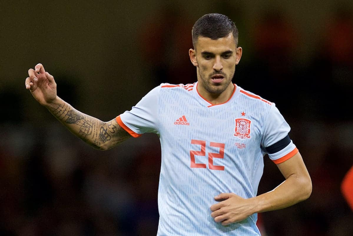 CARDIFF, WALES - Thursday, October 11, 2018: Spain's Dani Ceballos during the International Friendly match between Wales and Spain at the Principality Stadium. (Pic by David Rawcliffe/Propaganda)