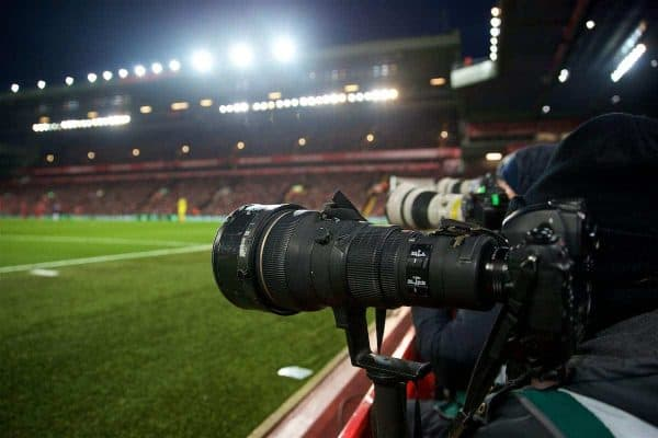 Camera, Anfield, matchday (Pic by David Rawcliffe/Propaganda)