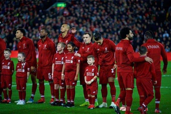 Matchday lineup image, Shaqiri waving (Pic by David Rawcliffe/Propaganda)