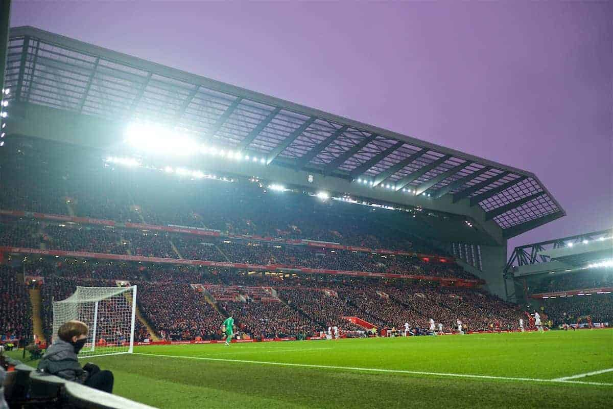 LIVERPOOL, ENGLAND - Saturday, January 19, 2019: A general view of Liverpool's Main Stand during the FA Premier League match between Liverpool FC and Crystal Palace FC at Anfield. (Pic by David Rawcliffe/Propaganda)