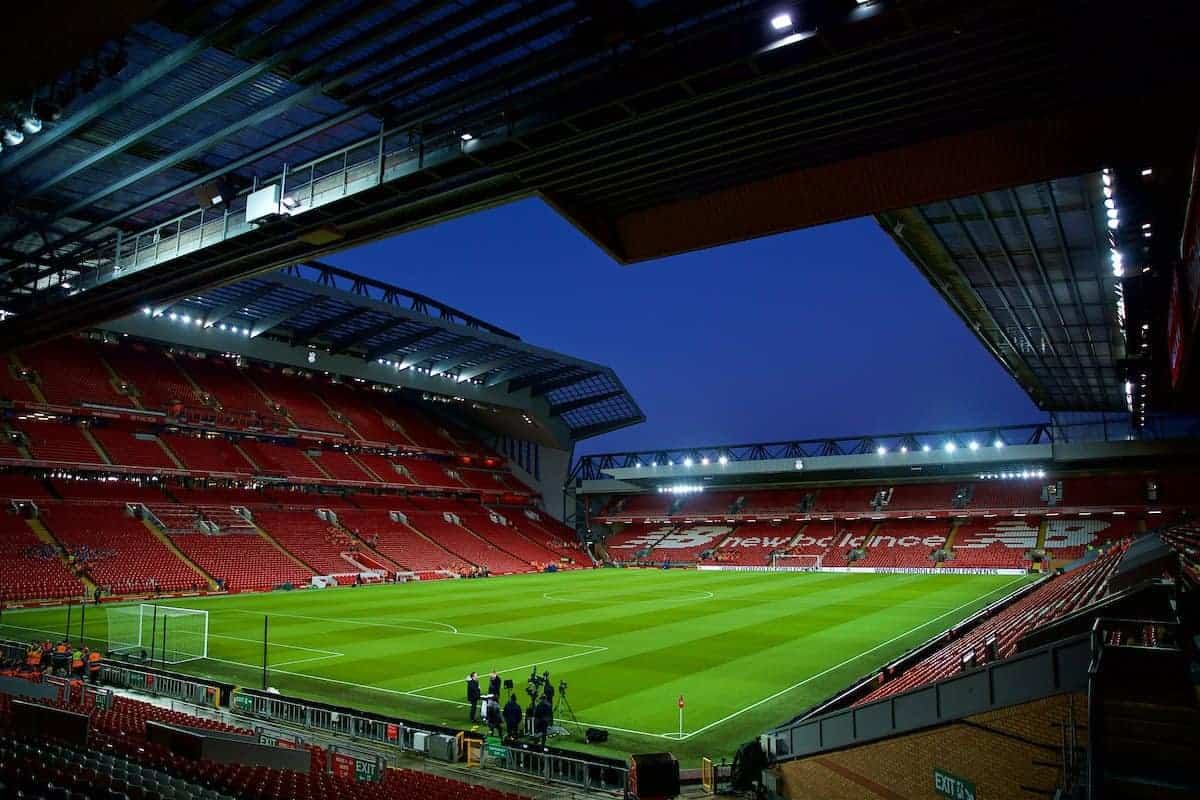 A general view of Liverpool's Anfield stadium / Anfield Road End (Pic by David Rawcliffe/Propaganda)