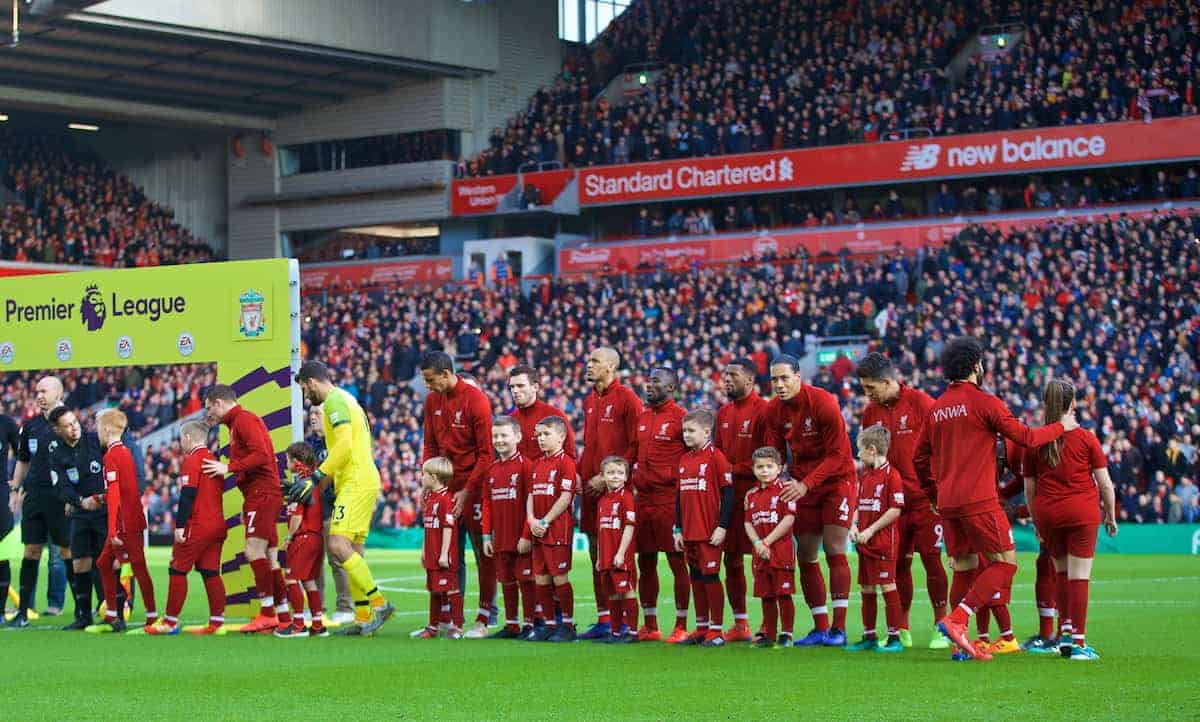 Matchday, Anfield, general, lineup. (Pic by David Rawcliffe/Propaganda)