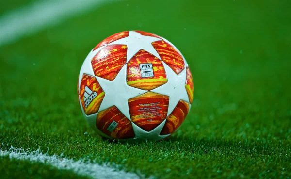 Champions League general image of match ball. (Pic by David Rawcliffe/Propaganda)