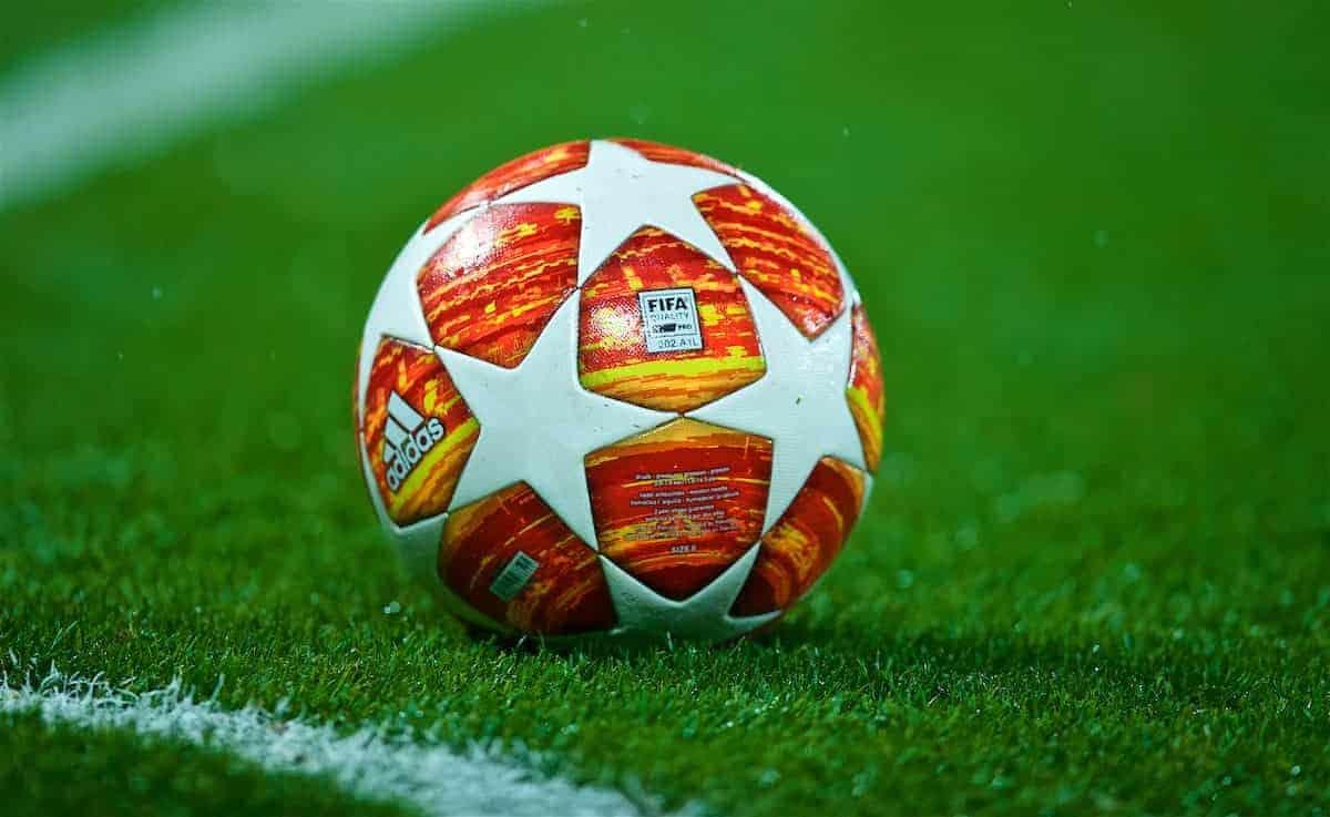 Champions League general image of match ball. (Pic by David Rawcliffe/Propaganda)
