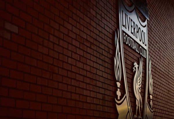 Liverpool badge, Anfield, general. (Pic by Paul Greenwood/Propaganda)