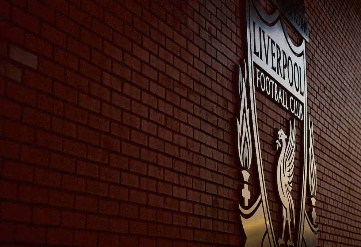 Liverpool badge, Anfield, general. (Pic by Paul Greenwood/Propaganda)