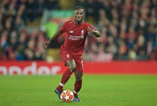 LIVERPOOL, ENGLAND - Tuesday, April 9, 2019: Liverpool's Naby Keita during the UEFA Champions League Quarter-Final 1st Leg match between Liverpool FC and FC Porto at Anfield. (Pic by David Rawcliffe/Propaganda)