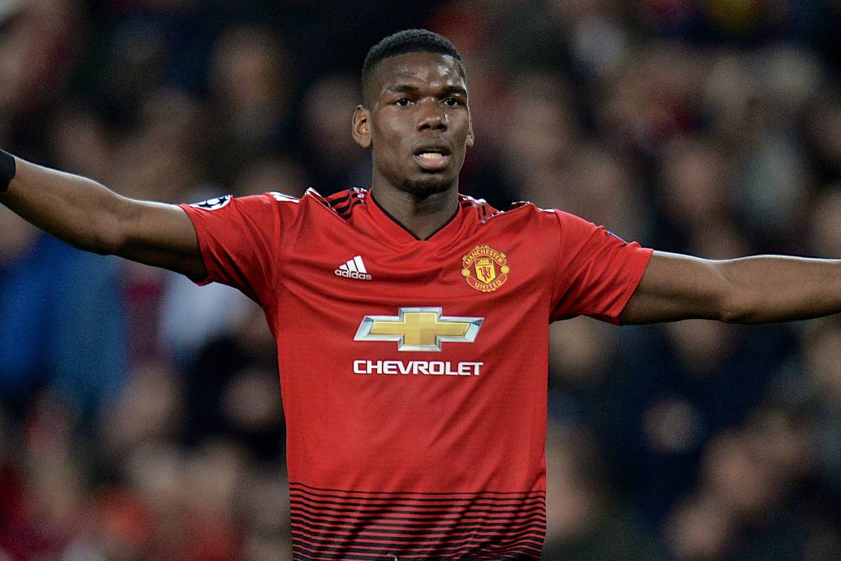 MANCHESTER, ENGLAND - Thursday, April 11, 2019: Manchester United's Paul Pogba during the UEFA Champions League Quarter-Final 1st Leg match between Manchester United FC and FC Barcelona at Old Trafford. Barcelona won 1-0. (Pic by David Rawcliffe/Propaganda)