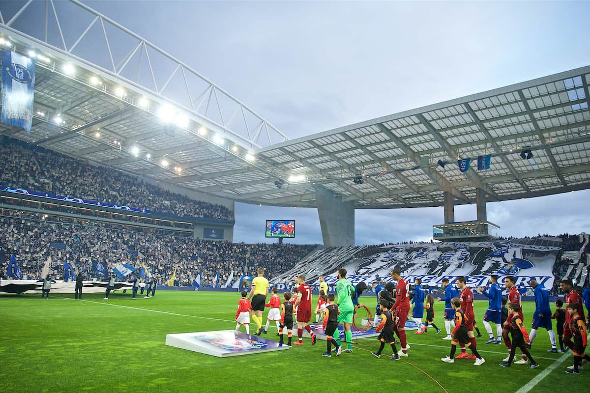 PORTO, PORTUGAL - Wednesday, April 17, 2019: Liverpool players walk out before the UEFA Champions League Quarter-Final 2nd Leg match between FC Porto and Liverpool FC at Estádio do Dragão. (Pic by David Rawcliffe/Propaganda)