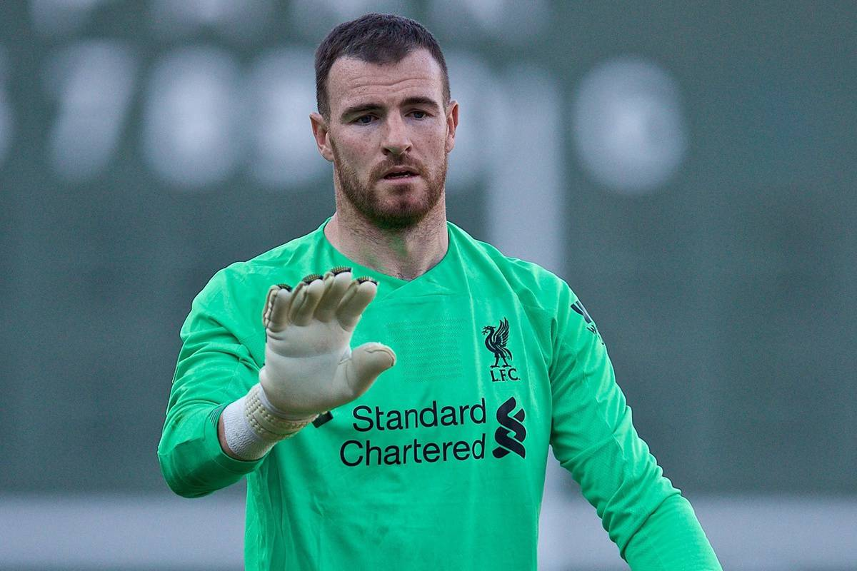 BOSTON, MASSACHUSETTS, USA - Sunday, July 21, 2019: Liverpool's goalkeeper Andy Lonergan during a friendly between Liverpool FC and Sevilla FC at Fenway Park on day six of the club's pre-season tour of America. (Pic by David Rawcliffe/Propaganda)
