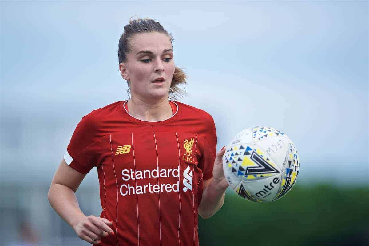 BOSTON, MASSACHUSETTS, USA - Monday, July 22, 2019: Liverpool's Melissa Lawley during a friendly match between Liverpool FC Women and Metropolitan Conference All Stars at Jordan Field at the Harvard Stadium on day seven of the club's pre-season tour of America. (Pic by David Rawcliffe/Propaganda)