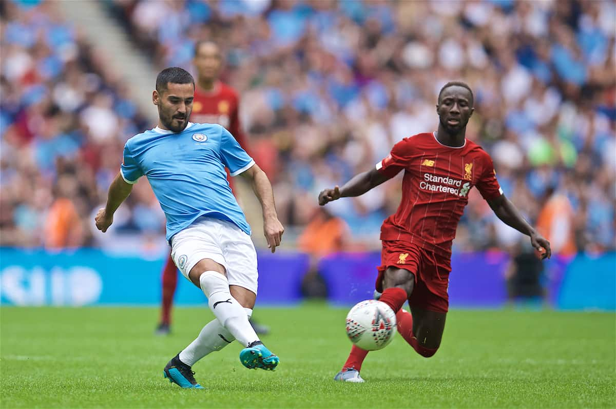 LONDON, ENGLAND - Sunday, August 4, 2019: Manchester City's Ilkay Gundogan during the FA Community Shield match between Manchester City FC and Liverpool FC at Wembley Stadium. (Pic by David Rawcliffe/Propaganda)