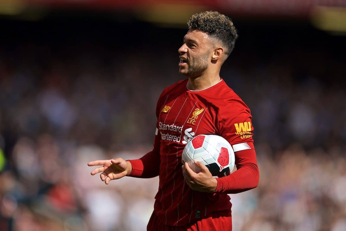 LIVERPOOL, ENGLAND - Saturday, September 14, 2019: Liverpool's Alex Oxlade-Chamberlain during the FA Premier League match between Liverpool FC and Newcastle United FC at Anfield. (Pic by David Rawcliffe/Propaganda)
