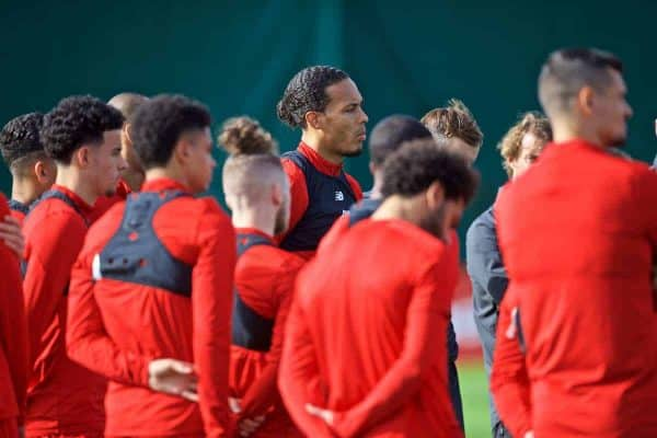 LIVERPOOL, ENGLAND - Monday, September 16, 2019: Liverpool's Virgil van Dijk during a training session at Melwood Training Ground ahead of the UEFA Champions League Group E match between SSC Napoli and Liverpool FC. (Pic by Laura Malkin/Propaganda)