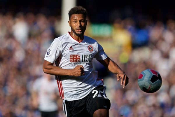 LIVERPOOL, ENGLAND - Saturday, September 21, 2019: Sheffield United's Lys Mousset during the FA Premier League match between Everton FC and Sheffield United FC at Goodison Park. (Pic by David Rawcliffe/Propaganda)