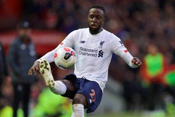 MANCHESTER, ENGLAND - Saturday, October 19, 2019: Liverpool's Divock Origi during the FA Premier League match between Manchester United FC and Liverpool FC at Old Trafford. (Pic by David Rawcliffe/Propaganda)