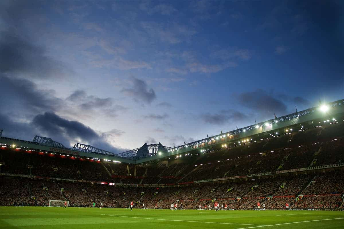 MANCHESTER, ENGLAND - Saturday, October 19, 2019: A general view during the FA Premier League match between Manchester United FC and Liverpool FC at Old Trafford. (Pic by David Rawcliffe/Propaganda)