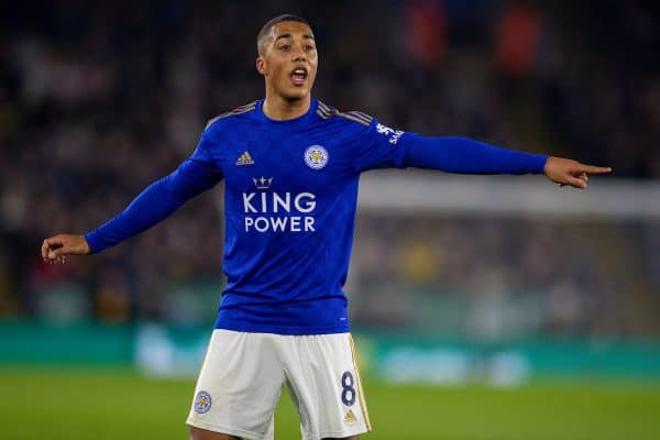 LEICESTER, ENGLAND - Sunday, December 1, 2019: Leicester City's Youri Tielemans during the FA Premier League match between Leicester City FC and Everton FC at the King Power Stadium. (Pic by David Rawcliffe/Propaganda)