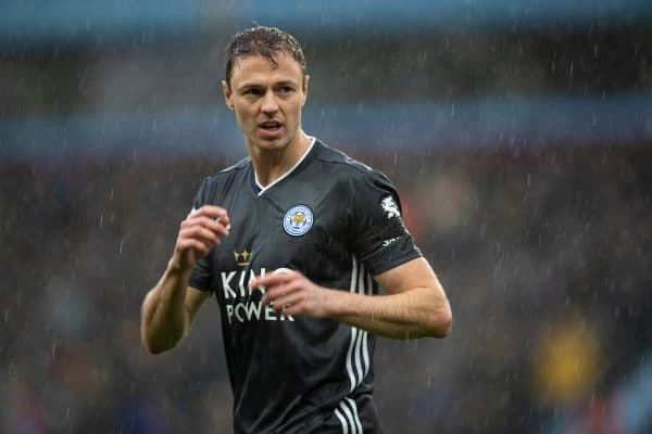 BIRMINGHAM, ENGLAND - Sunday, December 8, 2019: Leicester City's Jonny Evans during the FA Premier League match between Aston Villa FC and Leicester City FC at Villa Park. (Pic by David Rawcliffe/Propaganda)