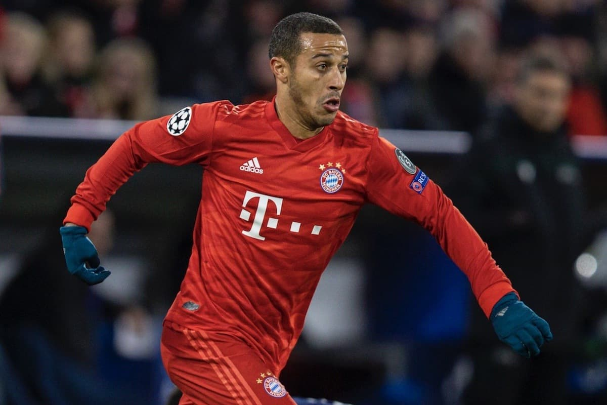 MUNICH, GERMANY - Wednesday, December 11, 2019: Bayern Munich's Thiago Alca?ntara during the final UEFA Champions League Group B match between FC Bayern München and Tottenham Hotspur FC at the Allianz Arena. (Pic by David Rawcliffe/Propaganda)