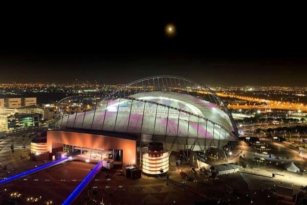 DOHA, QATAR - Thursday, December 12, 2019: A view of the Khalifa Stadium in the Aspire Zone ahead of the FIFA Club World Cup Qatar 2019 in Doha. (Pic by David Rawcliffe/Propaganda)