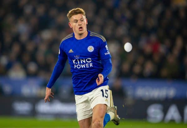 LEICESTER, ENGLAND - Thursday, December 26, 2019: Leicester City's Harvey Barnes during the FA Premier League match between Leicester City FC and Liverpool FC at the King Power Stadium. (Pic by David Rawcliffe/Propaganda)