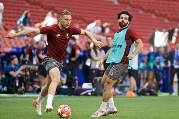 MADRID, SPAIN - Friday, May 31, 2019: Liverpool's captain Jordan Henderson during a training session ahead of the UEFA Champions League Final match between Tottenham Hotspur FC and Liverpool FC at the Estadio Metropolitano. (Pic by David Rawcliffe/Propaganda)