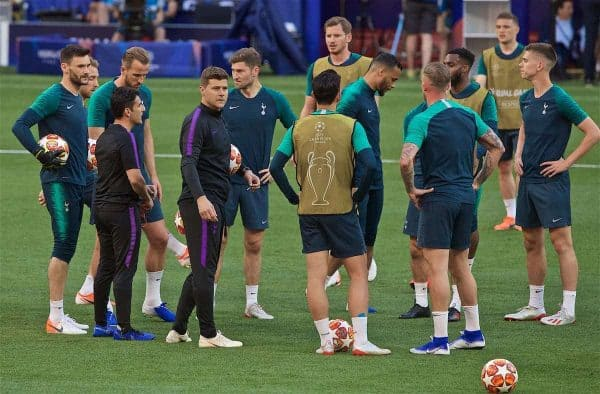MADRID, SPAIN - Friday, May 31, 2019: Tottenham Hotspur's manager Mauricio Pochettino during a training session ahead of the UEFA Champions League Final match between Tottenham Hotspur FC and Liverpool FC at the Estadio Metropolitano. (Pic by David Rawcliffe/Propaganda)