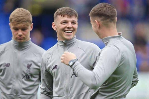 BIRKENHEAD, ENGLAND - Thursday, July 11, 2019: Liverpool's Bobby Duncan during a pre-season friendly match between Tranmere Rovers FC and Liverpool FC at Prenton Park. (Pic by David Rawcliffe/Propaganda)