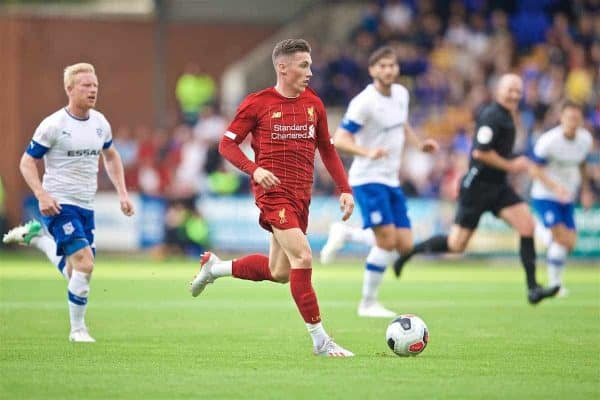 BIRKENHEAD, ENGLAND - Thursday, July 11, 2019: Liverpool's Harry Wilson during a pre-season friendly match between Tranmere Rovers FC and Liverpool FC at Prenton Park. (Pic by David Rawcliffe/Propaganda)