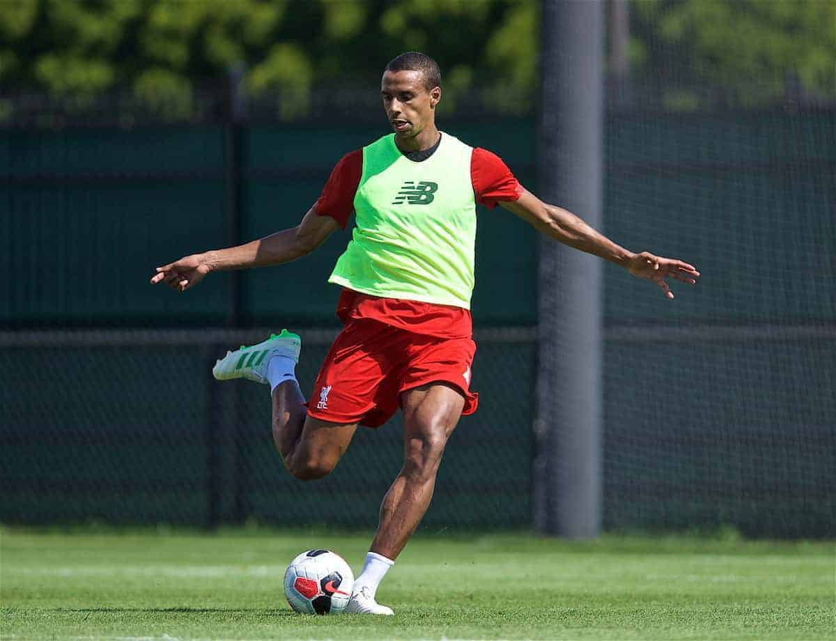 SOUTH BEND, INDIANA, USA - Thursday, July 18, 2019: Liverpool's Joel Matip during a training session ahead of the friendly match against Borussia Dortmund at the Notre Dame Stadium on day three of the club's pre-season tour of America. (Pic by David Rawcliffe/Propaganda)