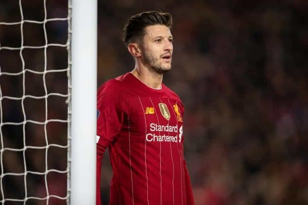 Liverpool's Adam Lallana during the FA Cup 3rd Round match between Liverpool FC and Everton FC, the 235th Merseyside Derby, at Anfield. (Pic by David Rawcliffe/Propaganda)