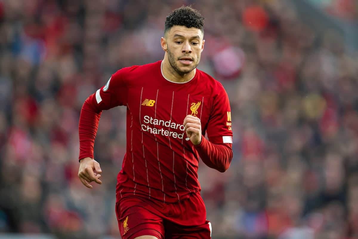 LIVERPOOL, ENGLAND - Saturday, February 1, 2020: Liverpool's Alex Oxlade-Chamberlain during the FA Premier League match between Liverpool FC and Southampton FC at Anfield. (Pic by David Rawcliffe/Propaganda)