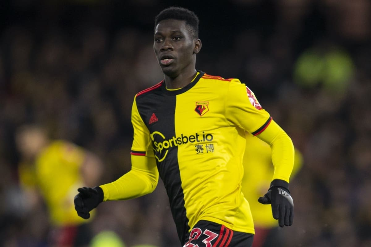 WATFORD, ENGLAND - Saturday, February 29, 2020: Watford's Ismaïla Sarr during the FA Premier League match between Watford FC and Liverpool FC at Vicarage Road. (Pic by David Rawcliffe/Propaganda)
