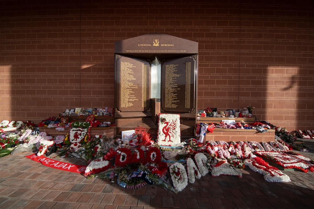 Anfield, Hillsborough memorial. (Pic by David Rawcliffe/Propaganda)