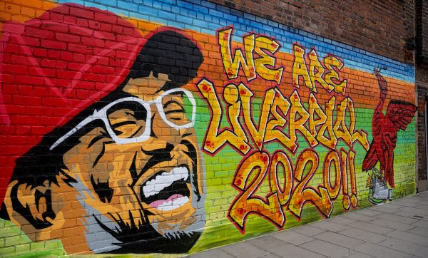 LIVERPOOL, ENGLAND - Monday, June 29, 2020: A new street art mural of Liverpool FC's manager Jürgen Klopp painted on the wall of a building in the Baltic Triangle in Liverpool City Centre after the team won the FA Premier League, their 19th top-flight Championship and the club's first title in 30 years. (Pic by David Rawcliffe/Propaganda)