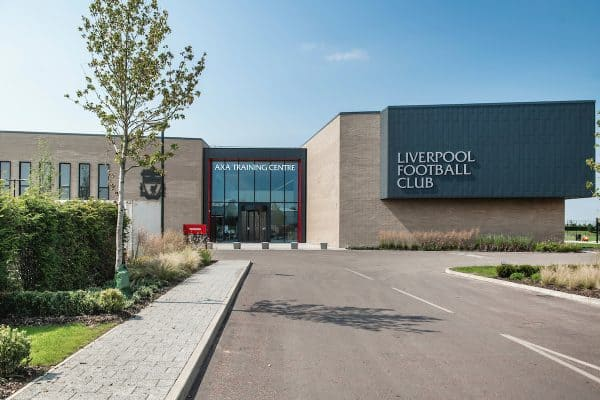 KIRKBY, ENGLAND - Thursday, August 13, 2020: An image of the players' entrance of Liverpool FC's new traing ground in Kirkby which will be sponsored by AXA and known as the AXA Training Centre. (Pic by Liverpool FC via Propaganda)