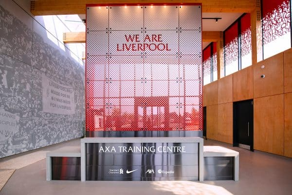 KIRKBY, ENGLAND - Thursday, August 13, 2020: An image of the Under-23 players' entrance of Liverpool FC's new traing ground in Kirkby which will be sponsored by AXA and known as the AXA Training Centre. (Pic by Liverpool FC via Propaganda)