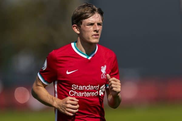 KIRKBY, ENGLAND - Sunday, September 13, 2020: Liverpool's Leighton Clarkson during the Premier League 2 Division 1 match between Liverpool FC Under-23's and Everton FC Under-23's at the Liverpool Academy. Liverpool won 1-0. (Pic by David Rawcliffe/Propaganda)
