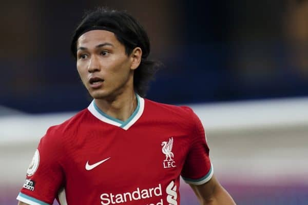Liverpool's Takumi Minamino during the FA Premier League match between Chelsea FC and Liverpool FC at Stamford Bridge. The game was played behind closed doors due to the UK government's social distancing laws during the Coronavirus COVID-19 Pandemic. Liverpool won 2-0. (Pic by Propaganda)