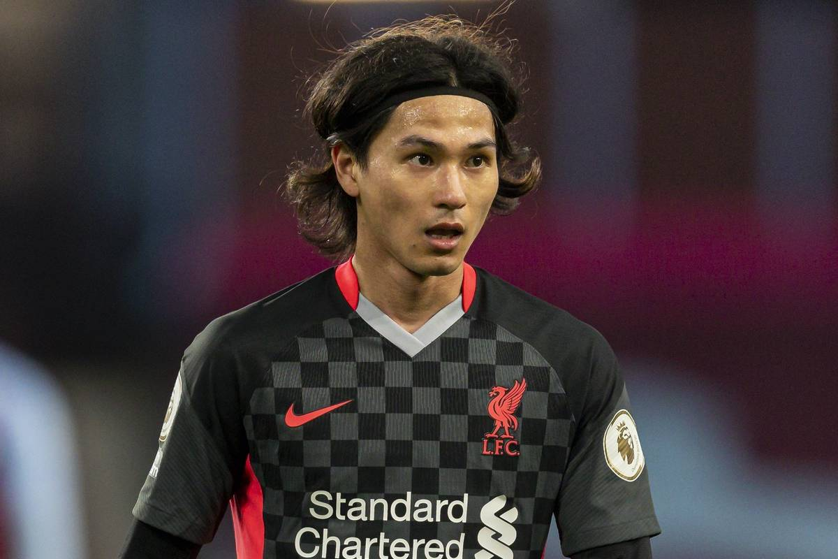 BIRMINGHAM, ENGLAND - Sunday, October 4, 2020: Liverpool's Takumi Minamino during the FA Premier League match between Aston Villa FC and Liverpool FC at Villa Park. The game was played behind closed doors due to the UK government's social distancing laws during the Coronavirus COVID-19 Pandemic. Aston Villa won 7-2. (Pic by David Rawcliffe/Propaganda)